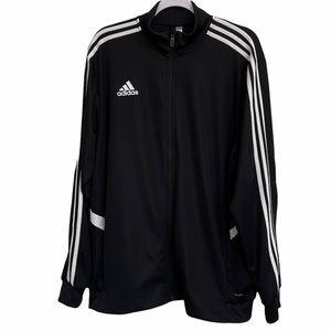 Adidas Climalite Black Full Zip Up Track Jacket XL